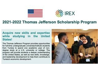 2021-2022 Thomas Jefferson Scholarship Program, For Young Tunisians To Study In USA